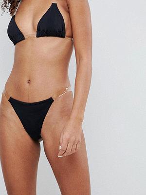ASOS DESIGN clear strappy micro tanga bikini bottom
