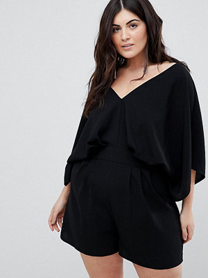 ASOS Curve ASOS DESIGN Curve playsuit with kimono sleeve