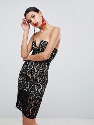 Ax Paris Strapless Lace Dress