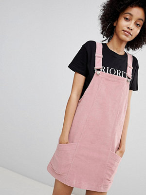 Bershka baby cord dungaree dress