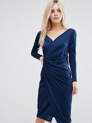 ASOS Petite Long Sleeve Wrap Pencil Dress