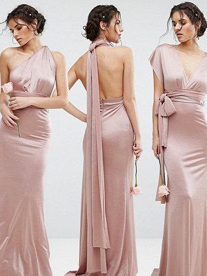 TFNC WEDDING Multiway Maxi Dress in Sheen - Mink