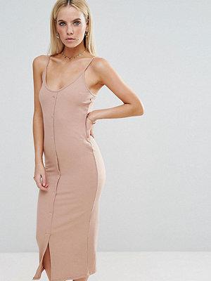 ASOS Petite Bodycon Maxi Dress with Popper Details