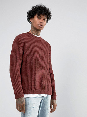 ASOS Relaxed Fit Jumper In Rust - Rust
