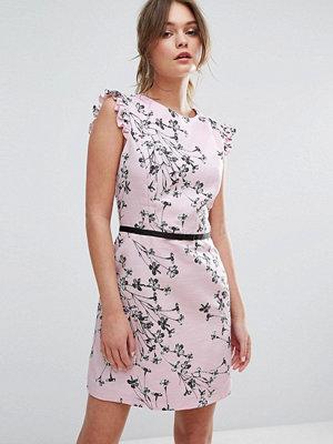 Miss Selfridge Floral Printed Ruffle Cap Sleeve Dress
