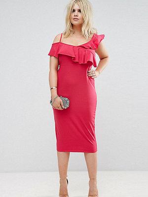 ASOS Curve Ruffle Asymmetric Bodycon Dress