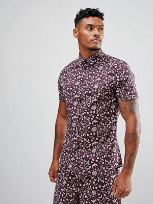 ASOS Co-ord Stretch Slim Shirt With Floral Print