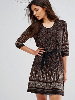 Brave Soul Petra Border Print Dress