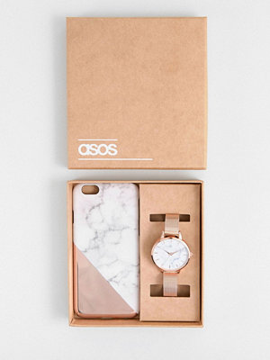 ASOS Marble Phone Case and Mesh Watch Gift Set