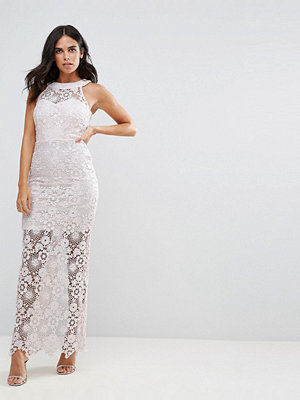 Paper Dolls Lace Maxi Dress - Light pink