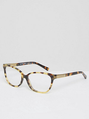 Michael Kors Cat Eye Frame Optical Clear Lens Glasses - Tort