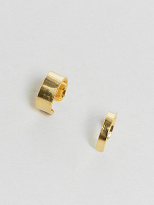 ASOS örhängen Pack of 2 Gold Plated Sterling Silver Ear Cuffs