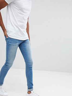 ASOS TALL Extreme Super Skinny Jeans In Light Wash