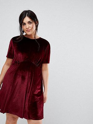 ASOS Curve Velvet Ultimate Mini Tea Dress