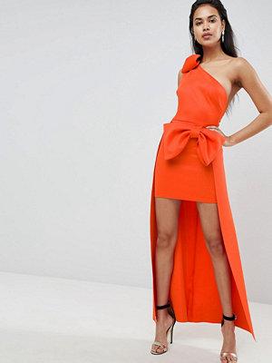 ASOS Bow Shoulder High Low Maxi Dress