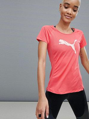 Puma Löpning Röd kortärmad T-shirt med logga
