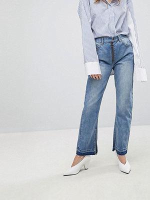 Evidnt Smala jeans med synligt blixtlås Beverly
