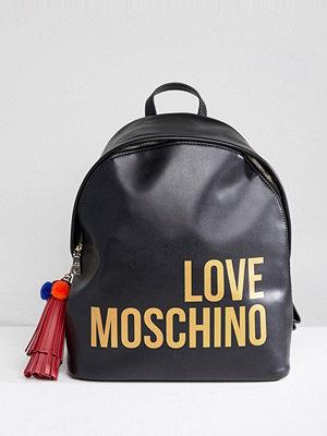 Love Moschino ryggsäck Logo Tassel Backpack