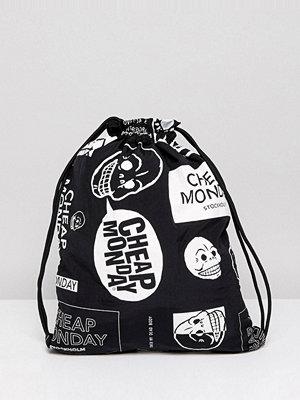Cheap Monday ryggsäck Multi Logo Drawstring Bag