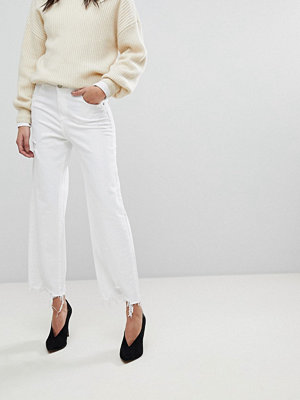 DL1961 Hepburn Crop Wide Leg Jean with Raw Hem - Sacramento