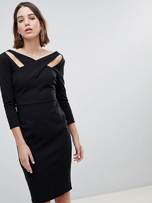 City Goddess Cross Over Midi Dress