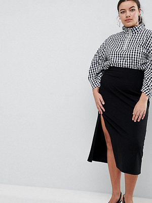 ASOS Curve ASOS DESIGN Curve midaxi skirt with front split