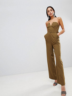 ASOS DESIGN Jumpsuit With Structured Bodice And Wide Leg