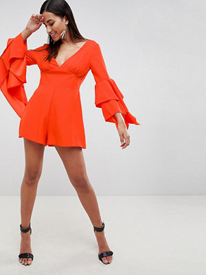 ASOS DESIGN Playsuit With Flared Sleeve