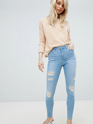 Miss Selfridge Lizzie Slitna jeans Light auth