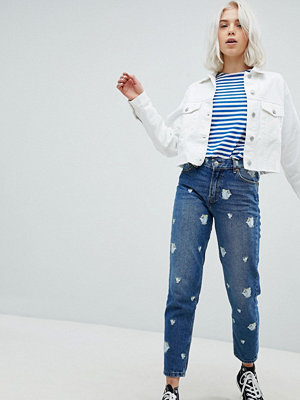 Pull&Bear Beauty And The Beast Mom Jeans - Med.blue