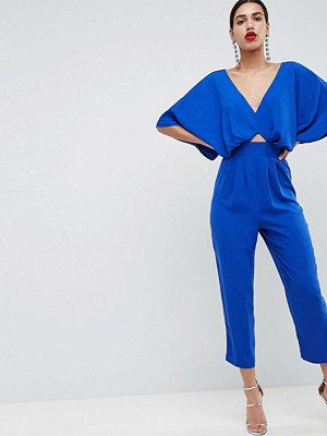 ASOS DESIGN Jumpsuit With Kimono Sleeve And Peg Leg