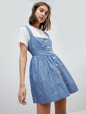 Free People Chambray Buttondown Dress