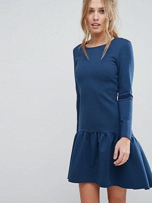 Closet London Closet Fluted Hem Long Sleeve Dress