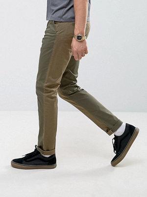 ASOS Skinny Cut and Sew Trousers in Khaki