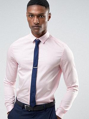 ASOS TALL WEDDING Slim Sateen Shirt