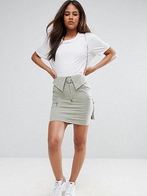 Asos Tall Mini Skirt with Circle Trim Belt