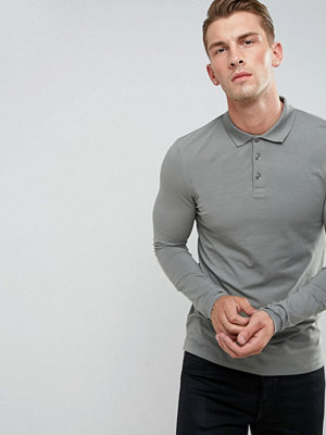 ASOS Muscle Fit Long Sleeve Jersey Polo