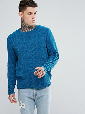 ASOS Chenille Jumper In Turquoise - Turquoise