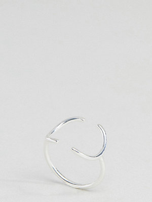 ASOS Sterling Silver Open Circle Ring