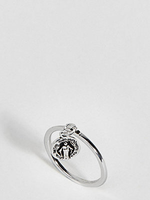 ASOS DESIGN Sterling Silver Vintage Style Icon Charm Ring