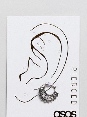 ASOS örhängen DESIGN Engraved Ornate Hoop Ear Piercing