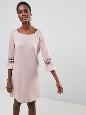 Vila Lace Sleeve Insert Shift - Adobe rose