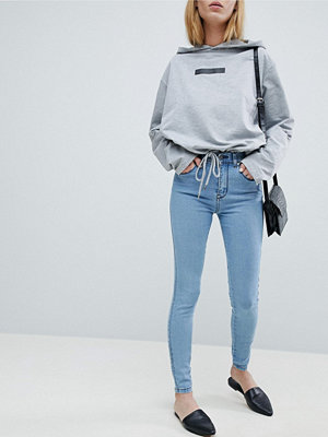 Dr. Denim Lexy Medelhöga skinnyjeans Pure light blue