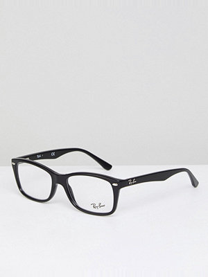 Ray-Ban Clear Lens Black Wayfarer Glasses