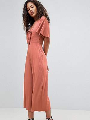 Jumpsuits & playsuits - New Look Tall Jersey Rib Tie Front Jumpsuit