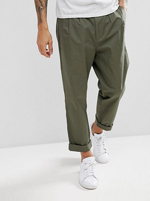 Byxor - KIOMI Tapered Trouser with Double Pleat - Khaki