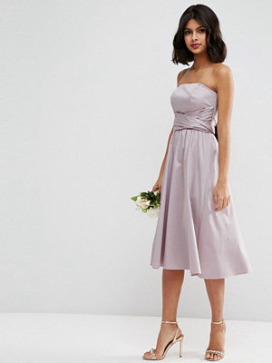 ASOS DESIGN Bridesmaid structured midi dress with bow detail