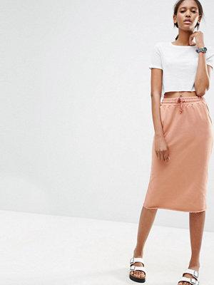 ASOS Midi Pencil Skirt in Sweat with Drawstring Waist