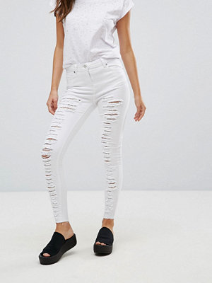 Parisian Extreme Rip Skinny Jeans