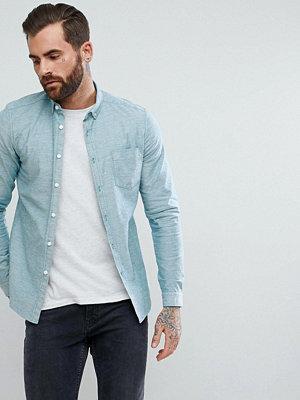 ASOS DESIGN casual stretch slim oxford shirt